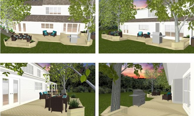 Renderings of side yard