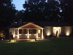 winner's home with new hardscape lighting