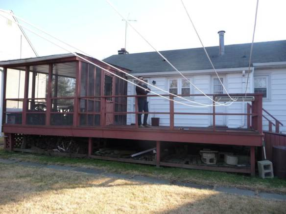 old sunroom and deck