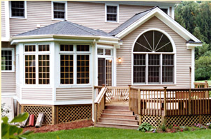 sunroom and deck addition