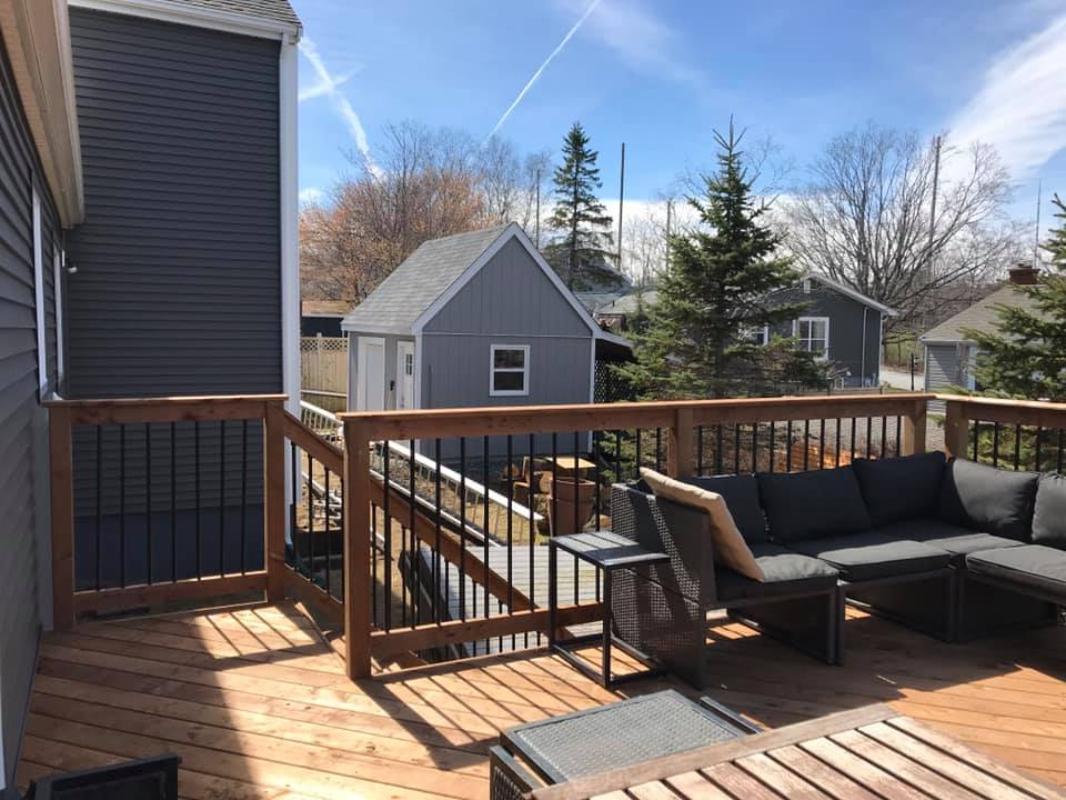 Large winter deck
