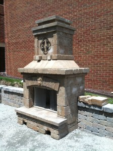 Belgard outdoor fireplace