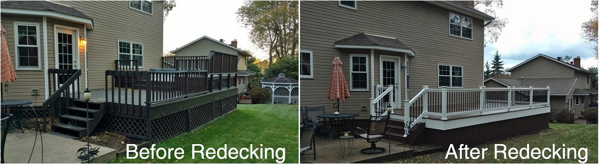 Before and After redecking project