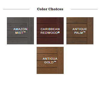 TimberTech Tropical Collection color choices