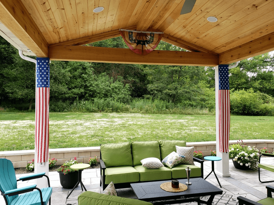 Cozy backyard covered patio