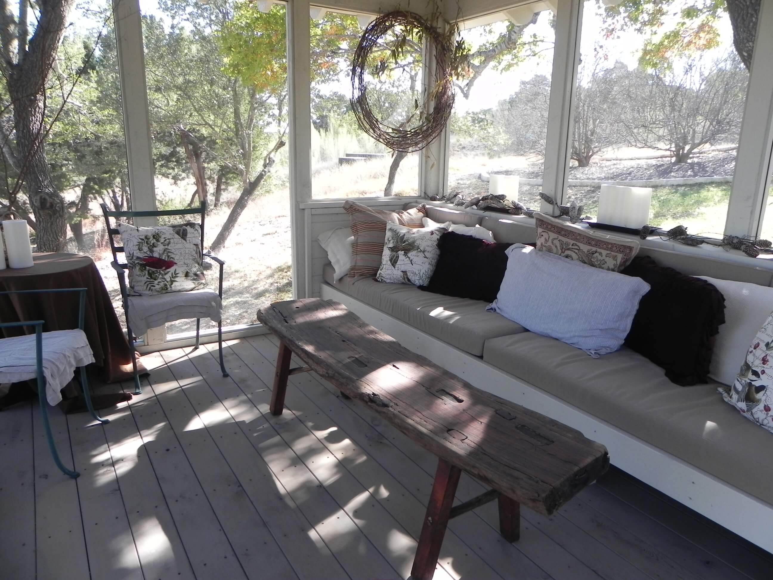 Backyard screened porch