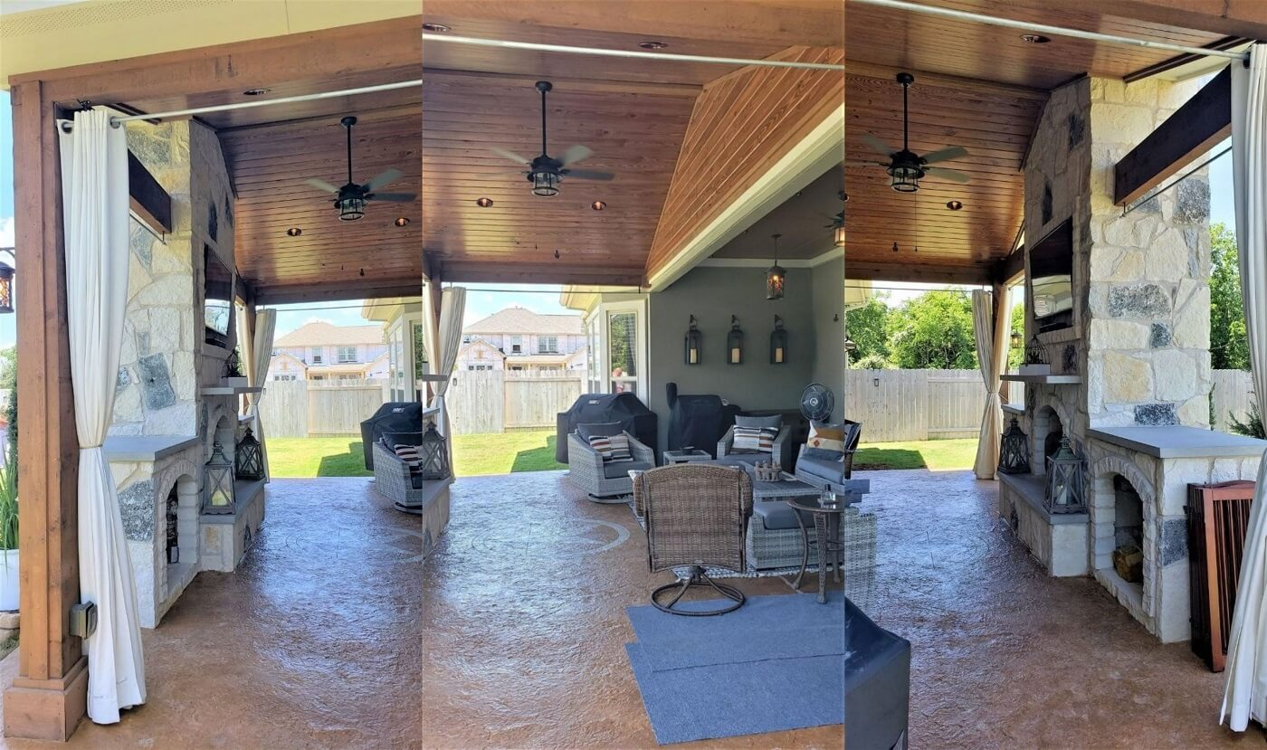 Interior view of new patio cover