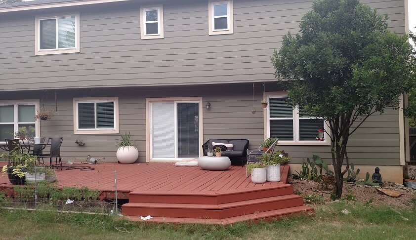 Before backyard deck