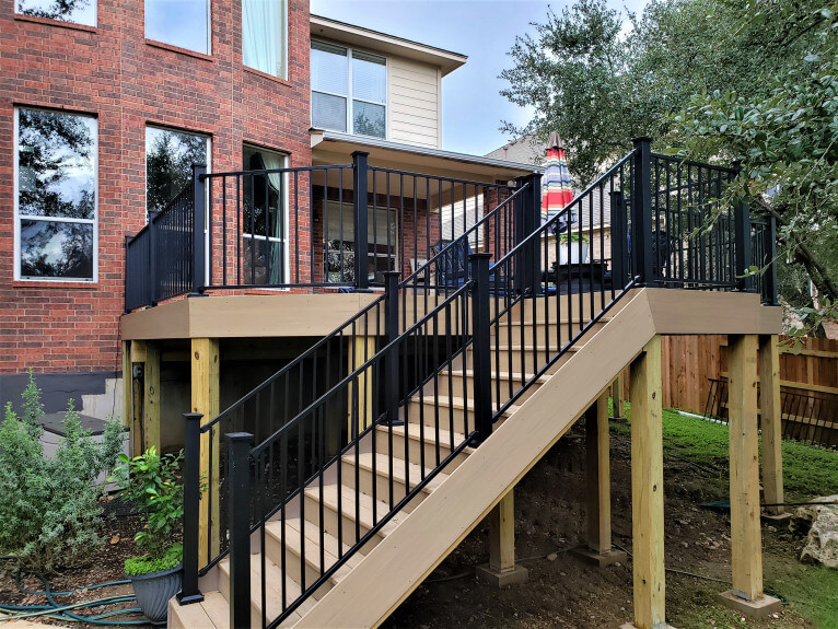 wooden deck with stairs
