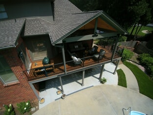 open porch and deck in greystone