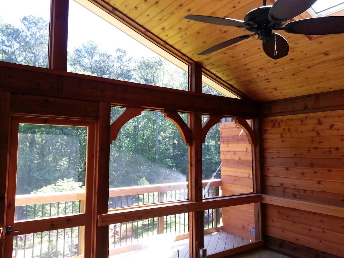 Screened porch and deck combination