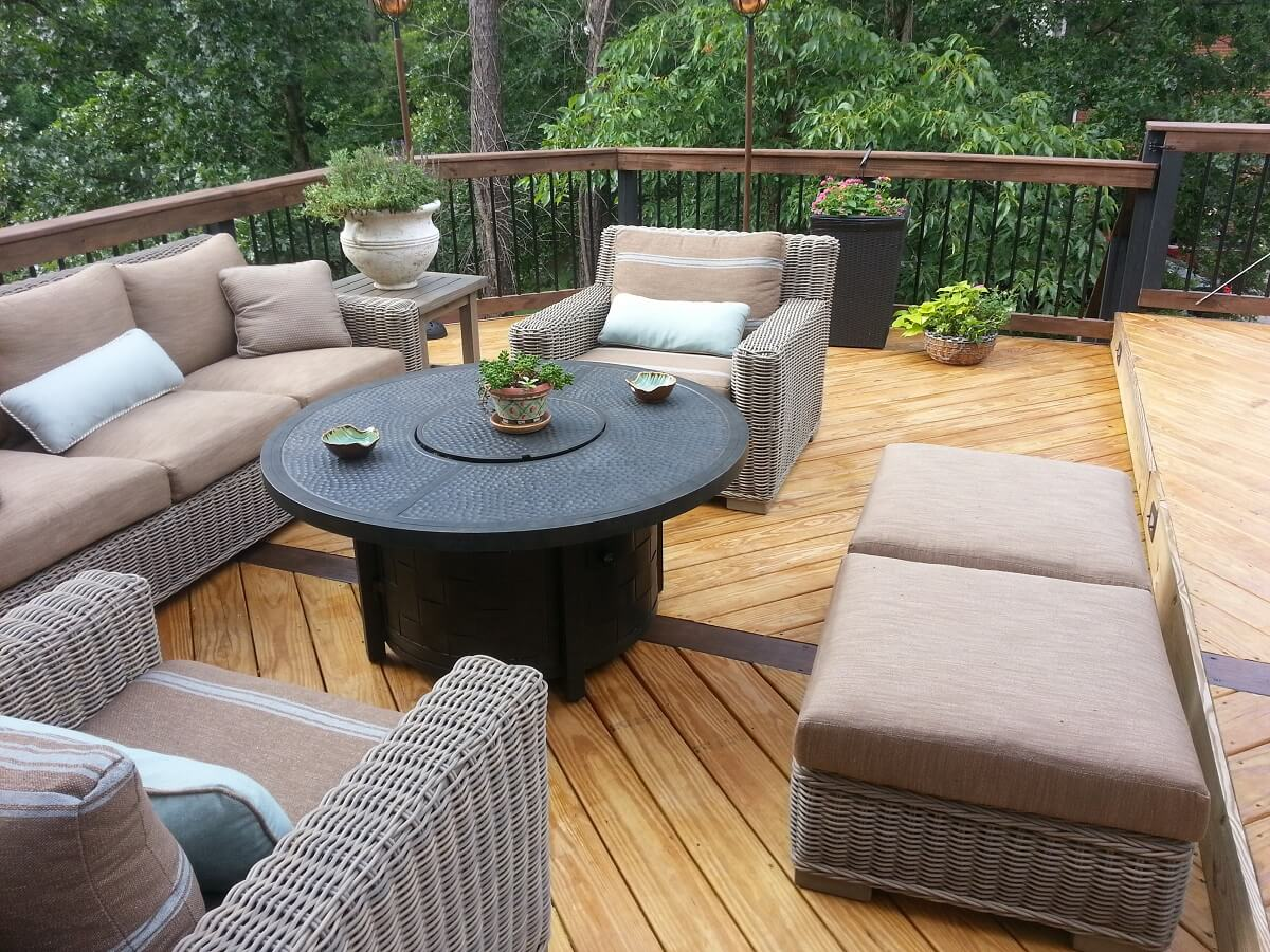 Cozy deck with plant decors