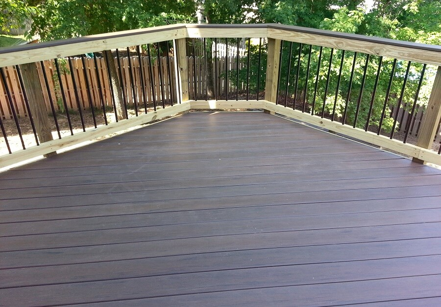 Deck flooring and railing