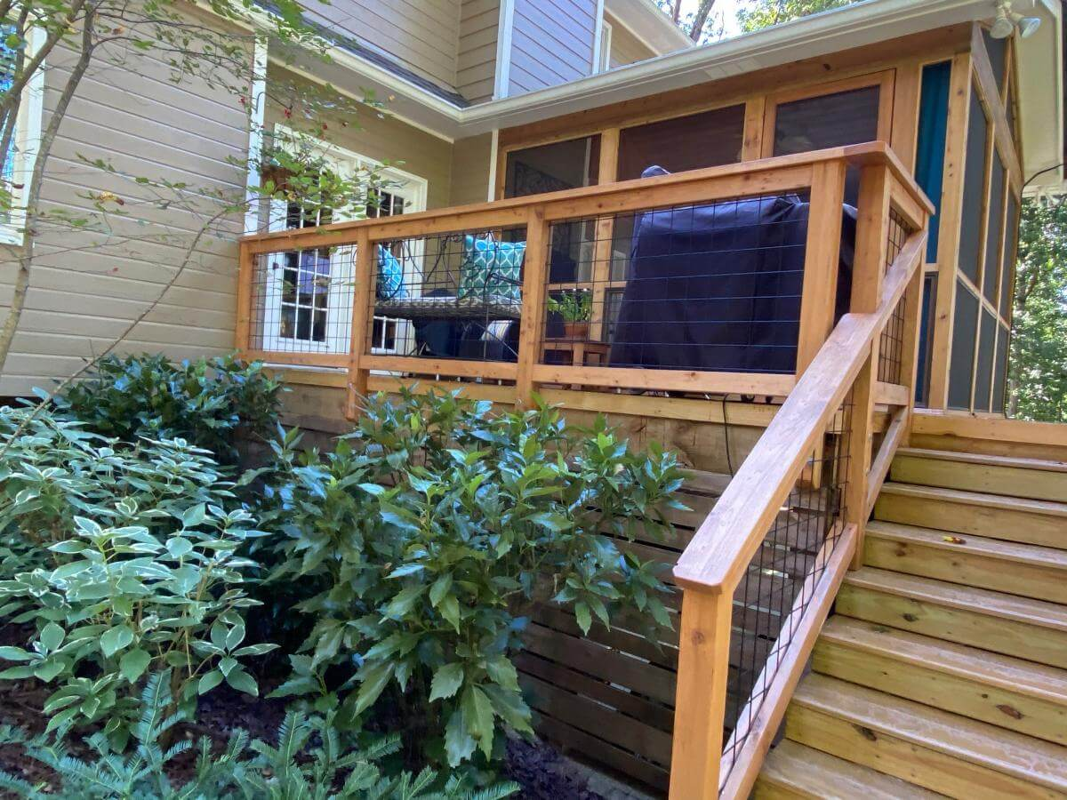 Custom screened porch and deck