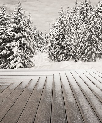 bamboo decking during the winter