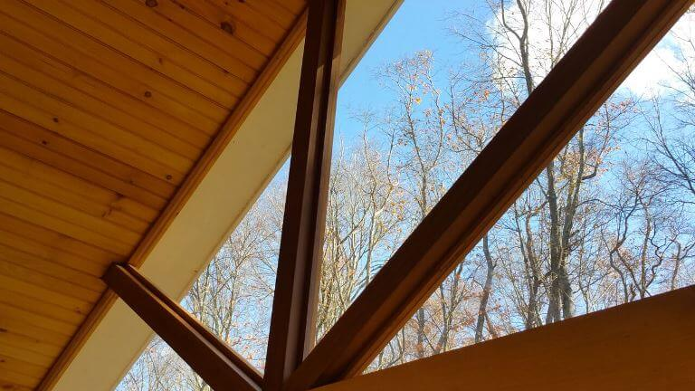 Screened porch ceiling details