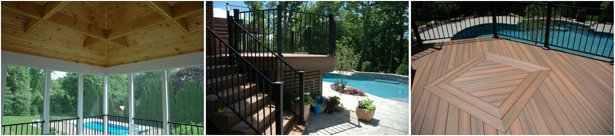 Poolside screened porch and deck