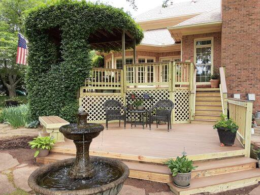 Custom backyard multi-level deck