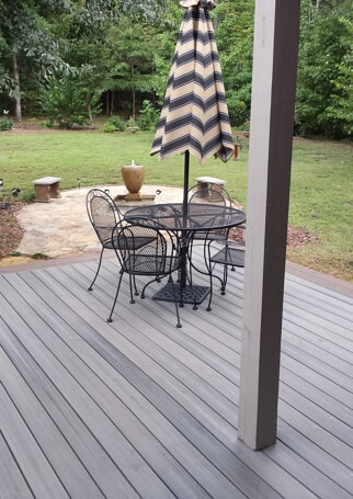 fiberon timbertech deck with table in macon georgia