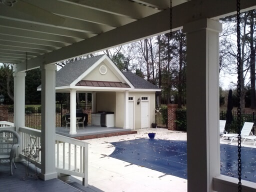 pool house back porch