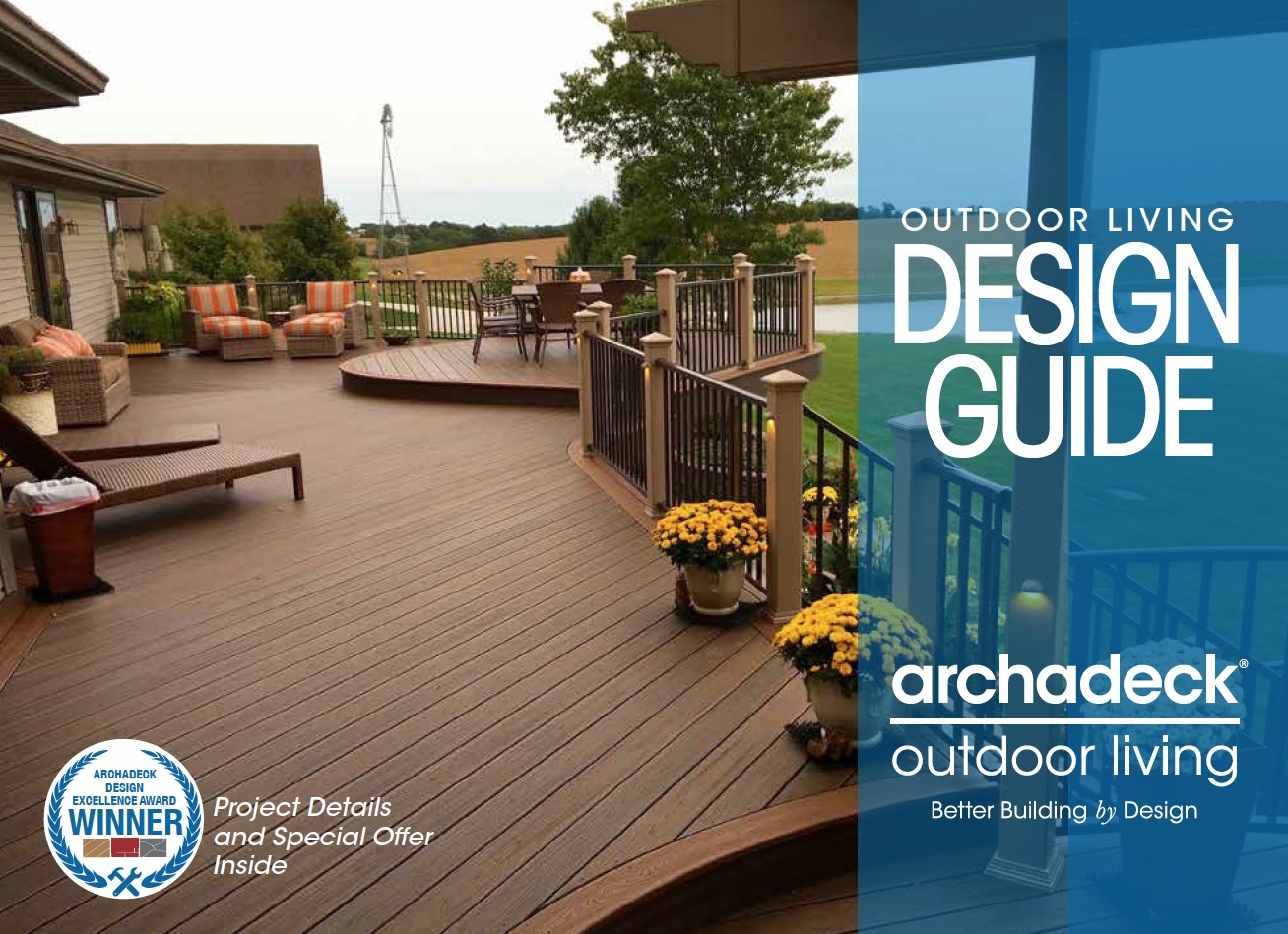 2017 Outdoor Living Design Guide winning design cover