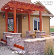 Custom front porch with pergola