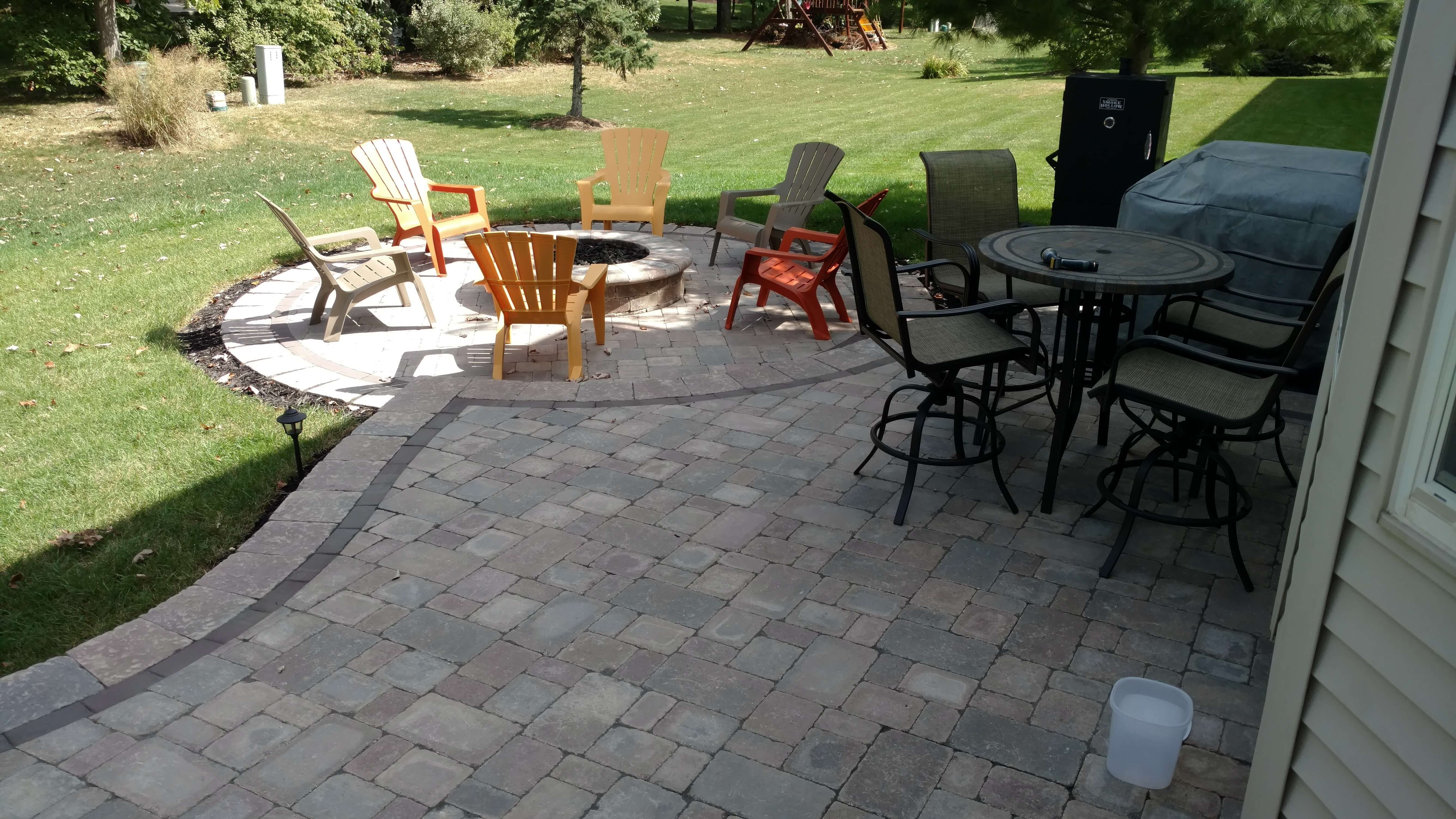 Patio and fire pit
