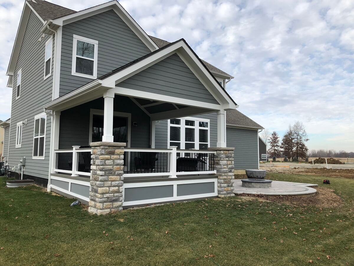 Custom covered porch and patio