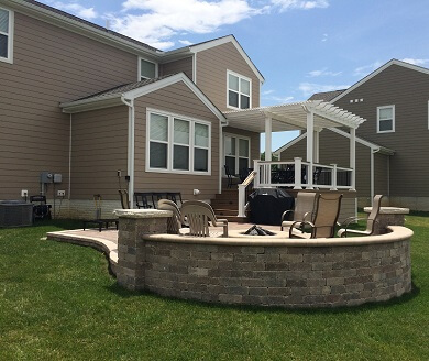 Custom backyard deck and patio