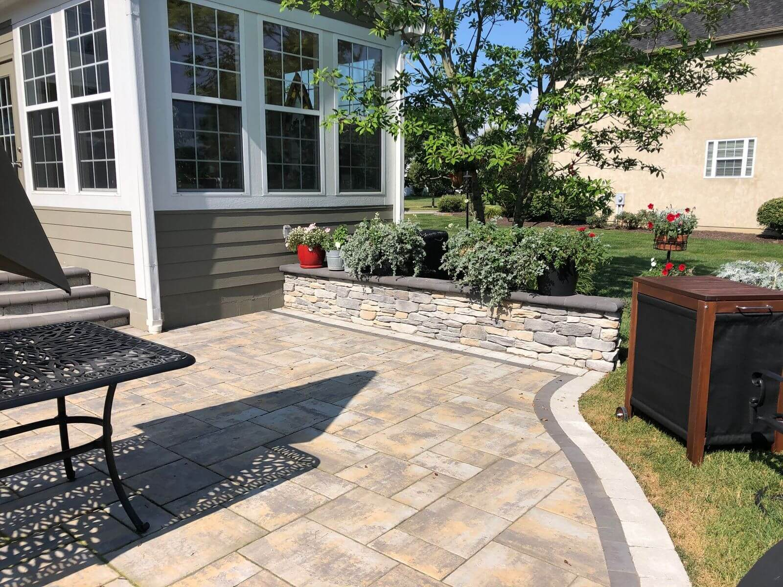 Custom patio details