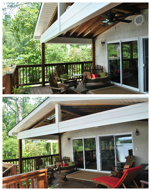 deck and porch combination