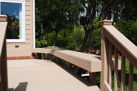 This AZEK Deck Features Custom Integrated Bench Seating