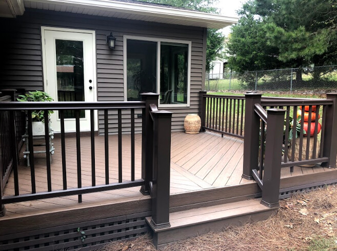 Low maintenance sunroom and deck
