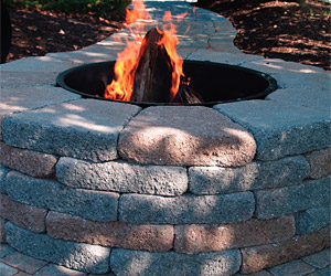 Belgard's Country Manor fire pit kit