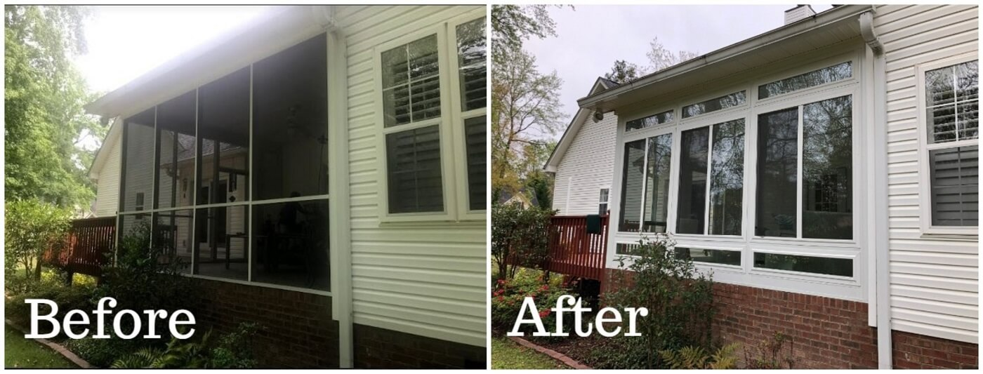 From screened porch to sunroom