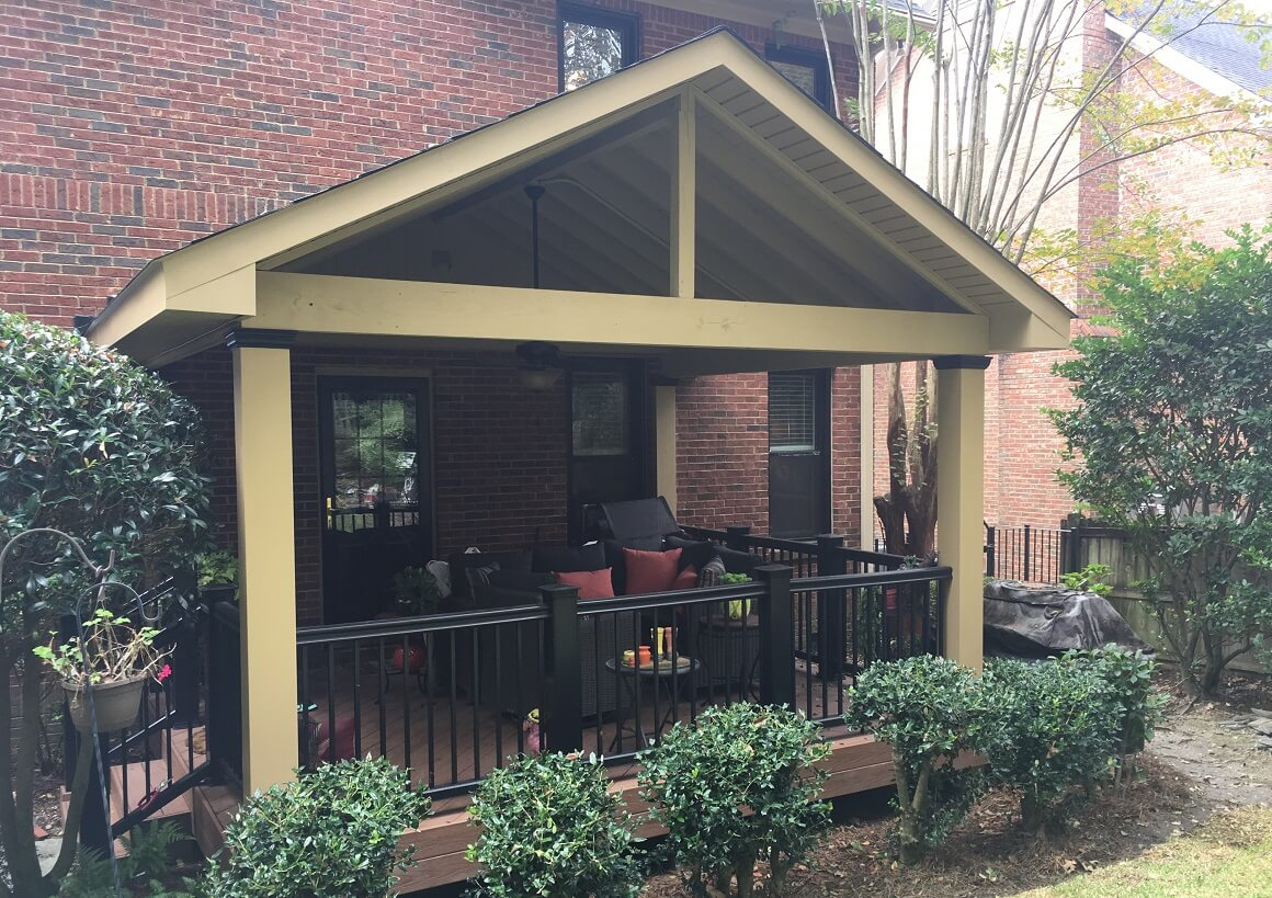 Custom deck and covered porch