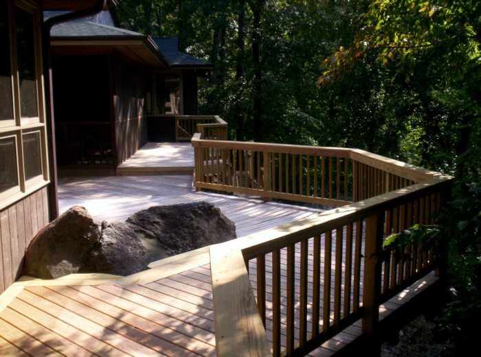 Custom wood deck