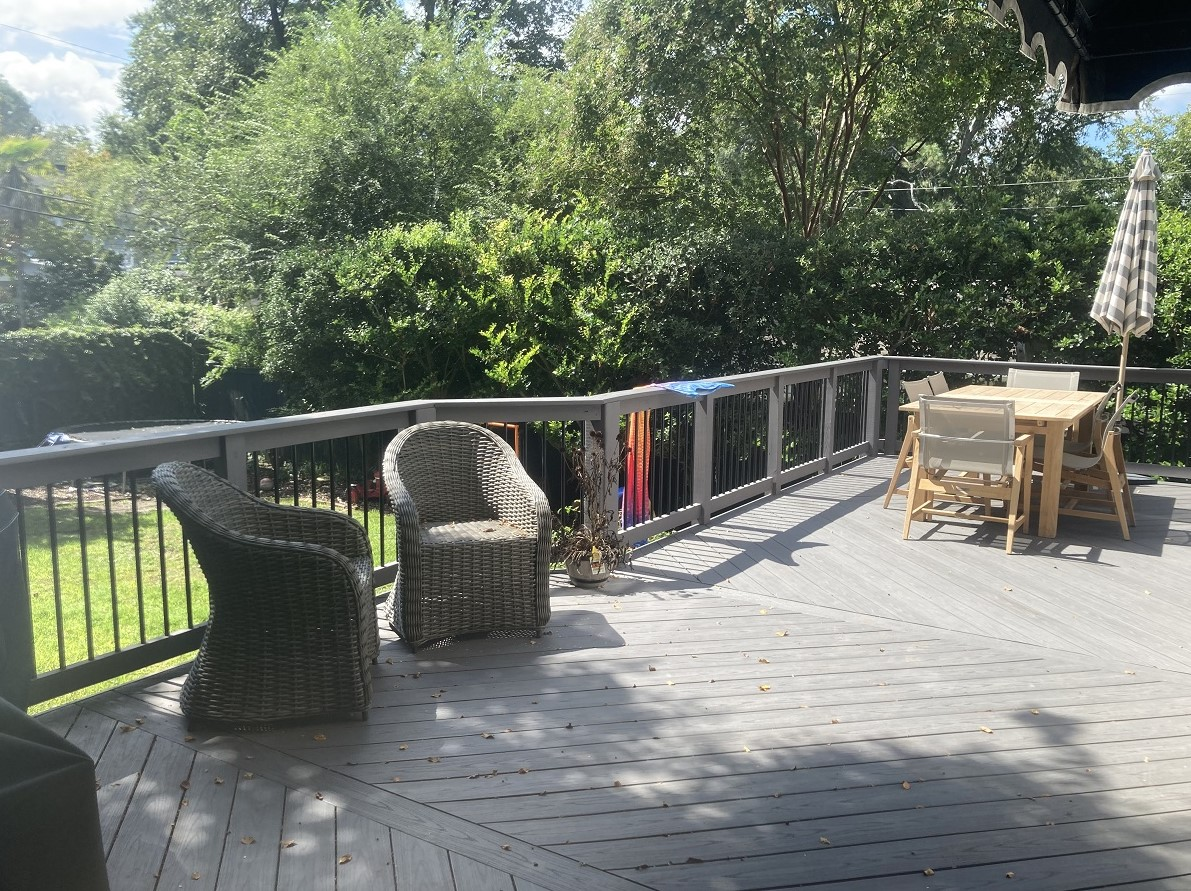 outdoor deck and chairs