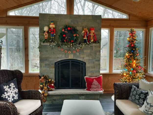 enjoy your screened porch of sunroom for holidays ahead