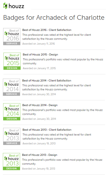 Houzz reviews for Archadeck of Charlotte
