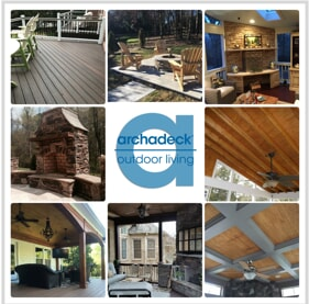 archadeck charlotte collage of outdoor living spaces