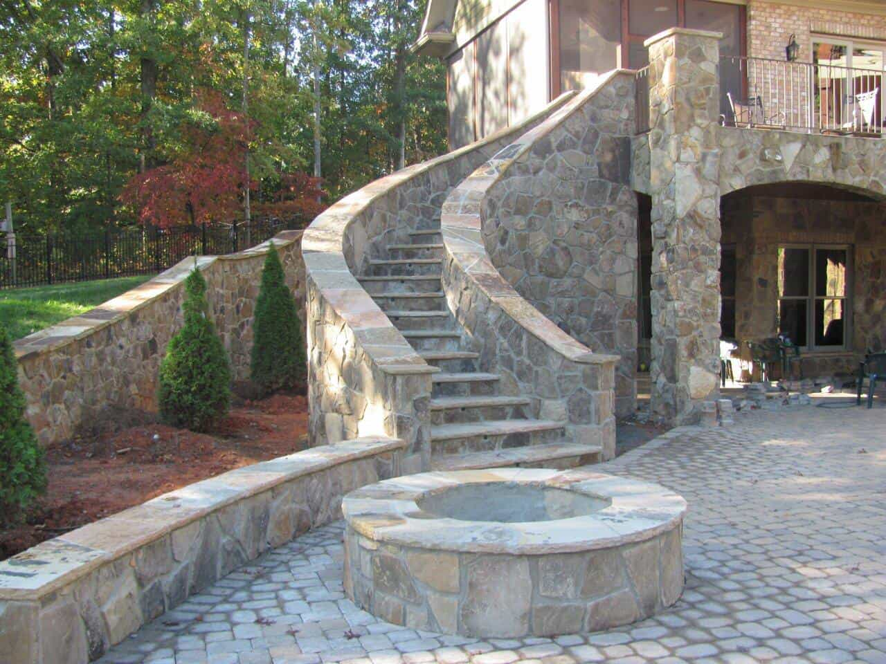 Hardscape Patio with Outdoor Fire Pit