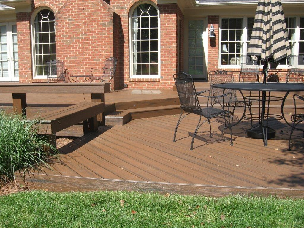 Deck with custom benches