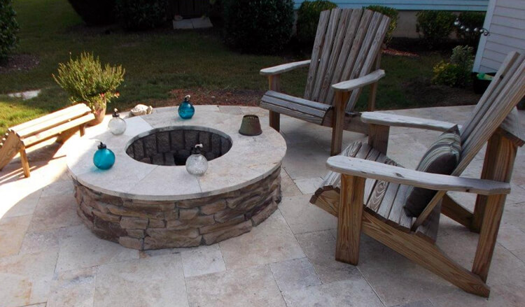 Patio on a Mooresville fire pit