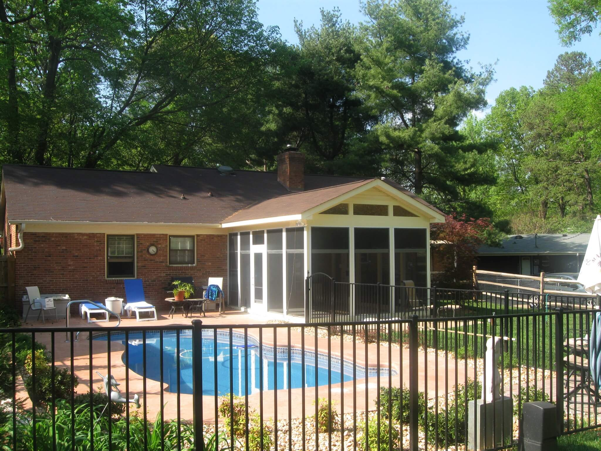 poolside screened porch