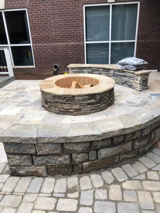 Built in firepit