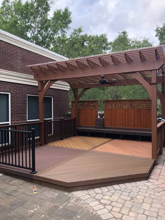 Pergola and privacy fence
