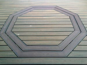 Trex Charlotte Trex Deck in Charlotte with Hexagonal Inlay