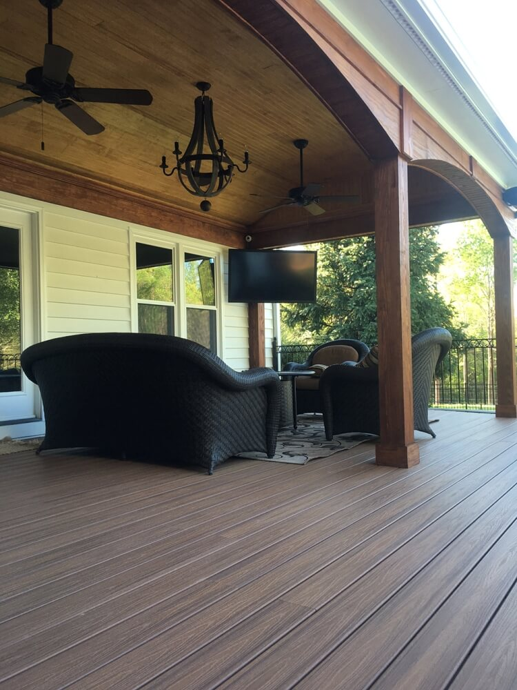 Trex Deck With Open Porch by Archadeck of Charlotte