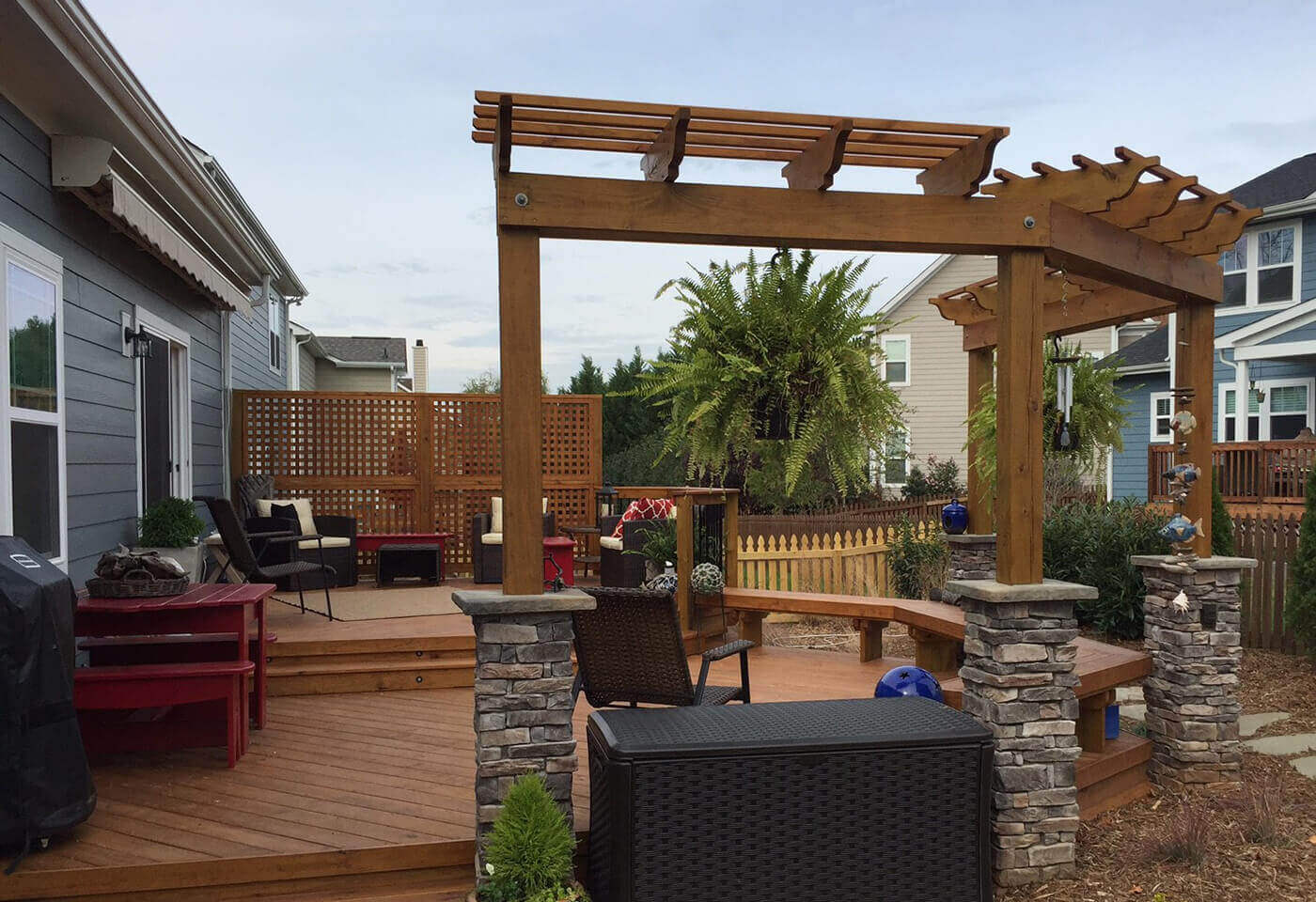 Deck with Pergola Fort Mill SC